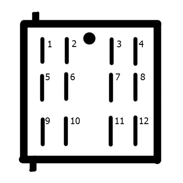 Вид на клему кнопки 2110