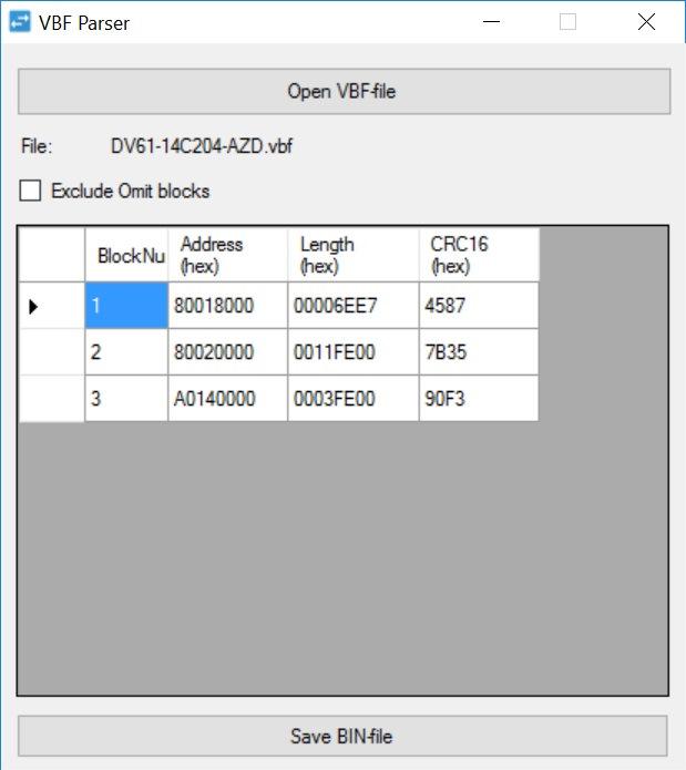 Tech] Создаем конвертер VBF to BIN — DRIVE2