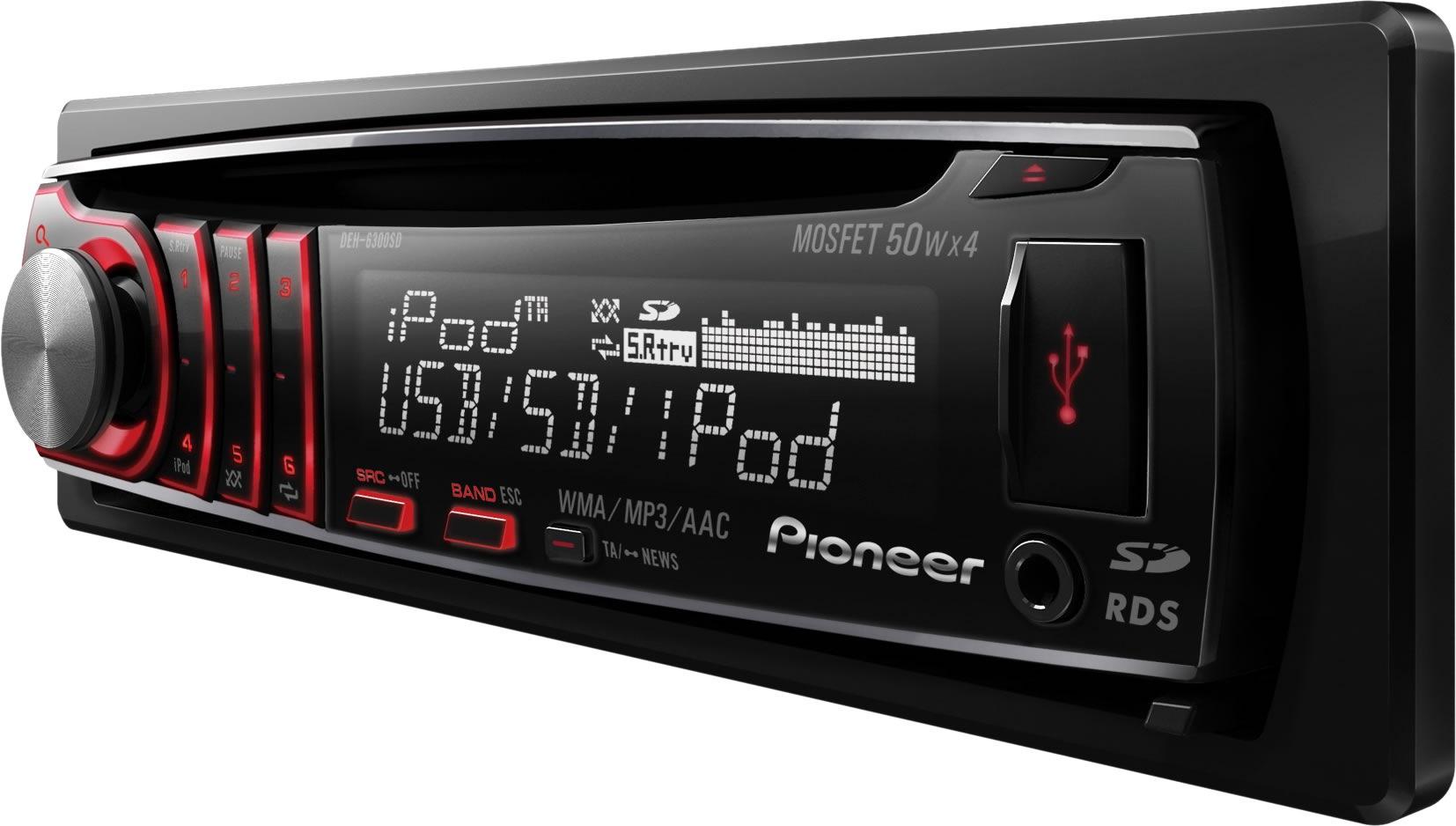 CD автомагнитола Pioneer DEH-6350, фото 1.
