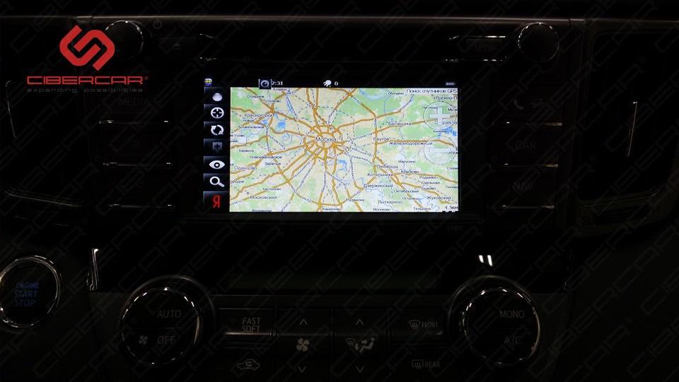 Яндекс-Карты на экране головного устройства.