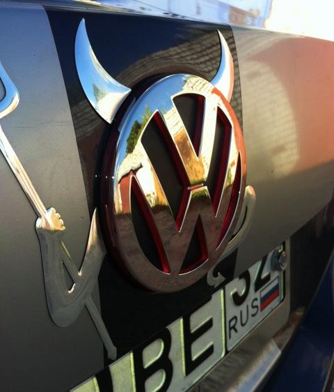Светящиеся эмблема VOLKSWAGEN VW