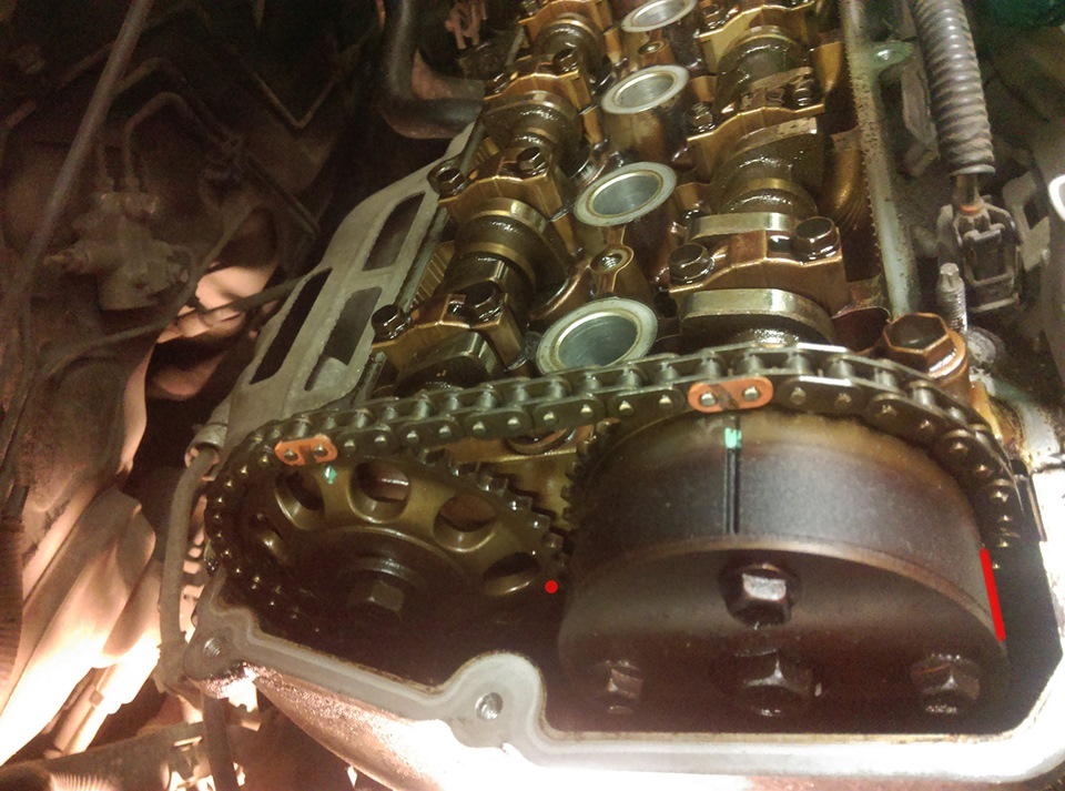 Replacing timing chain 1NZ-FE — logbook Toyota Corolla Fielder 2002