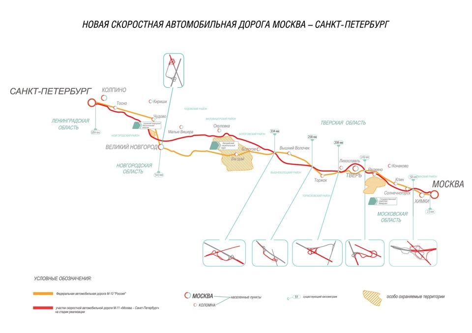схема м11 платная дорога