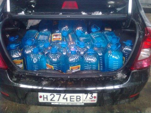 100 бутылок по 5 литров и вот что получилось.