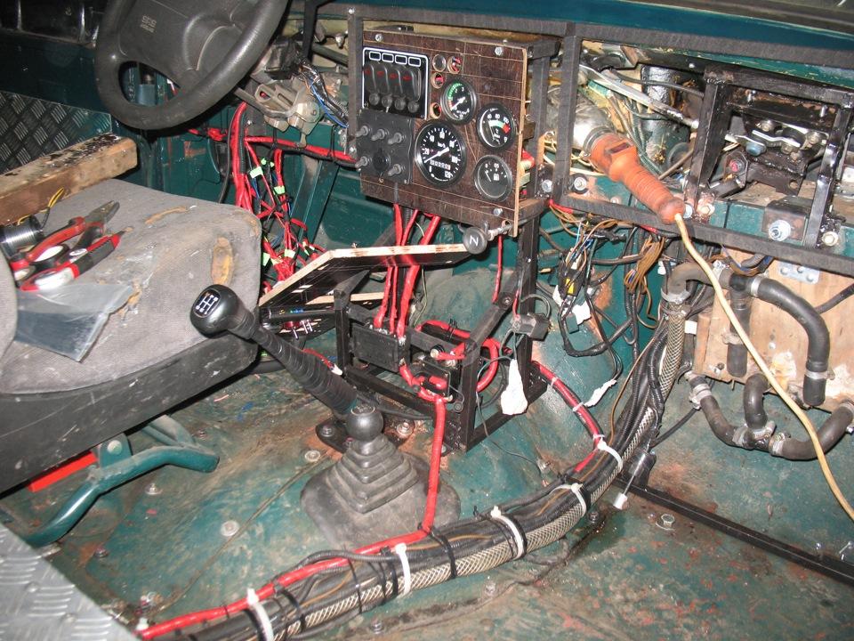 Переделка проводки уаз буханка своими руками 636