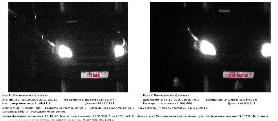 Штрафы за превышение скорости с камер видеофиксации
