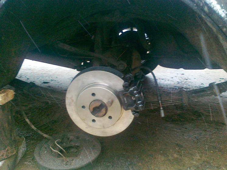 Задние дисковые тормоза на волгу с ручником