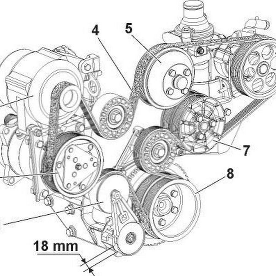Схема установки приводного ремня фото 30