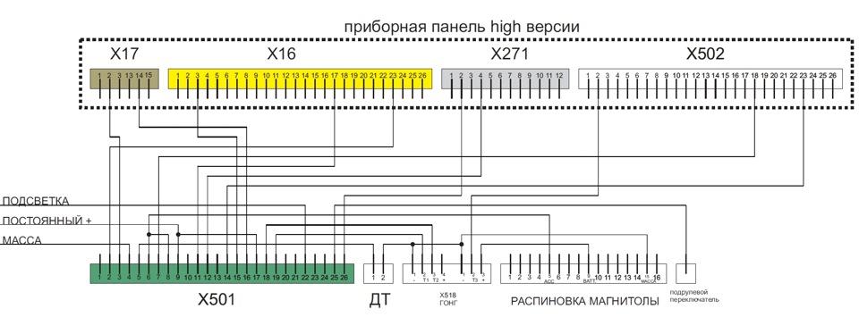Схема подключения БК