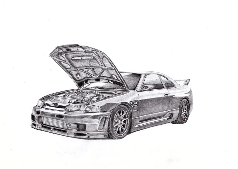nissan r33 gtr coloring pages - photo#32