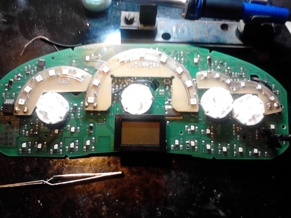 Подсветка приборной панели приора