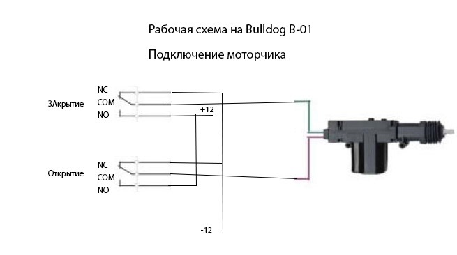 Центральный замок Bulldog B-01