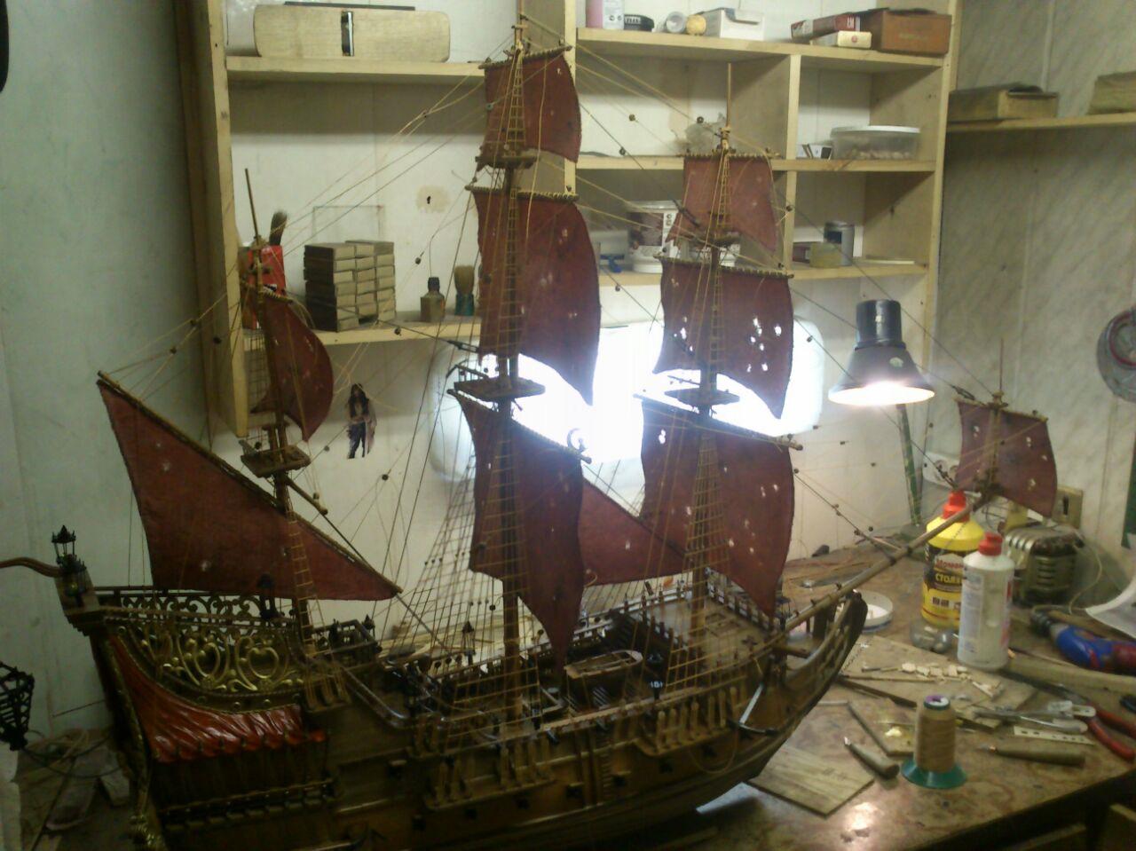 Макеты парусного корабля своими руками 12