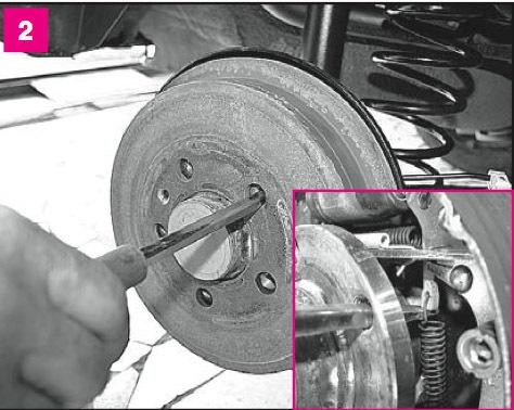skoda octavia 2001 задняя тормозная система