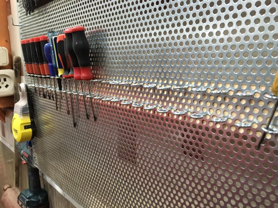 Перфорированная стенка для инструмента
