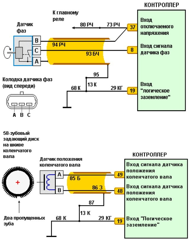 Схема подключения ДФ
