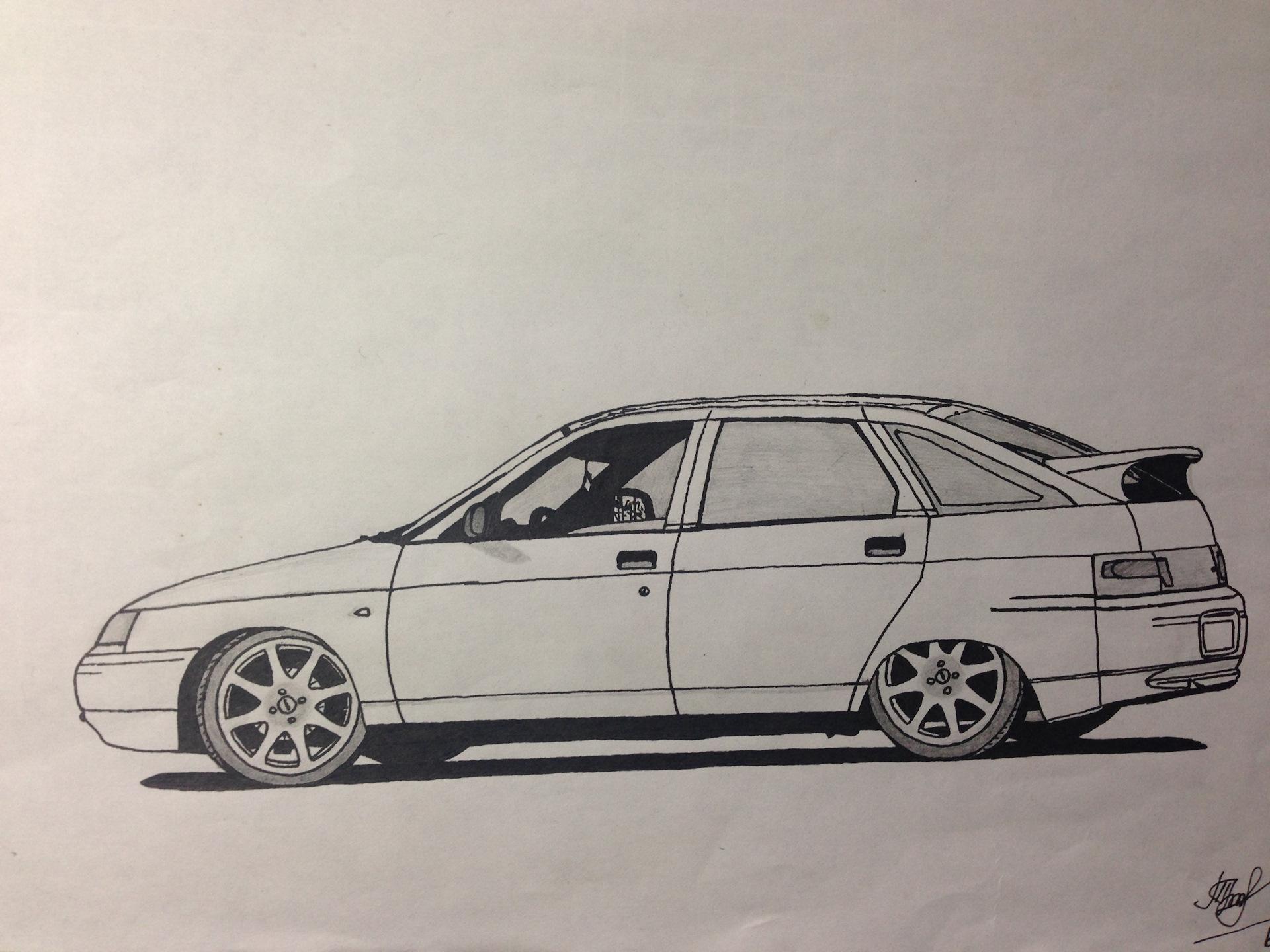Картинки русские машины бпан карандашом двенашка
