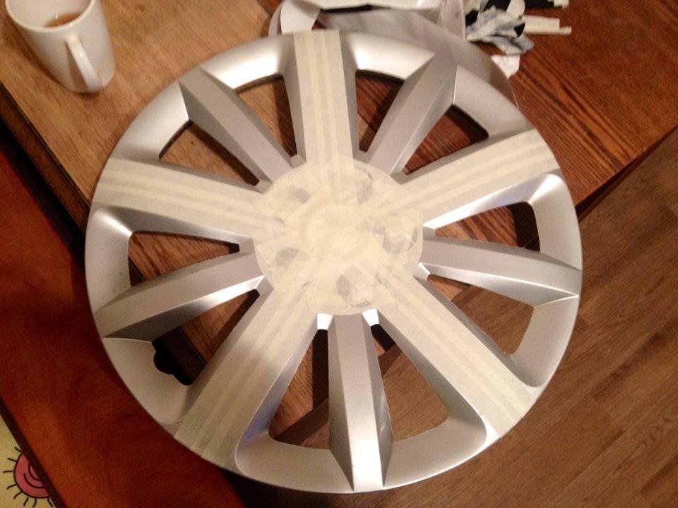 Как покрасить колесные колпаки своими руками 62