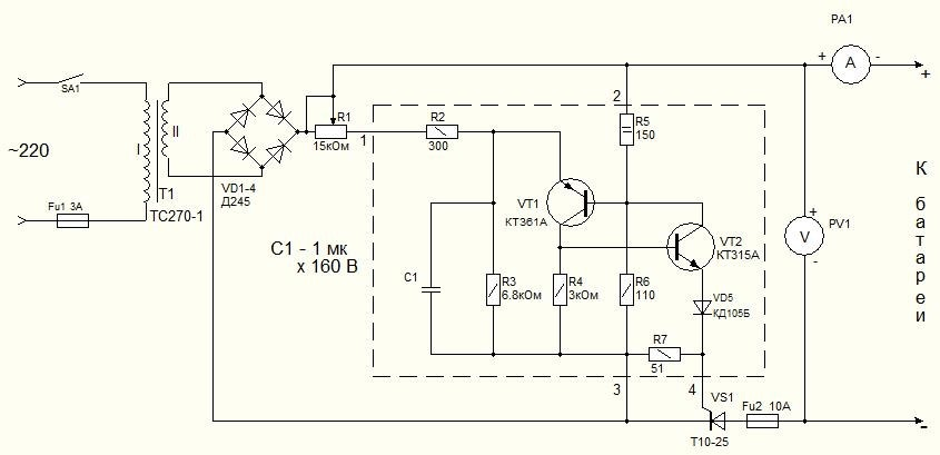 Как сделать зарядное устройство для АКБ своими руками