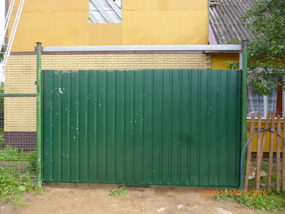 Откатные ворота сделай сам