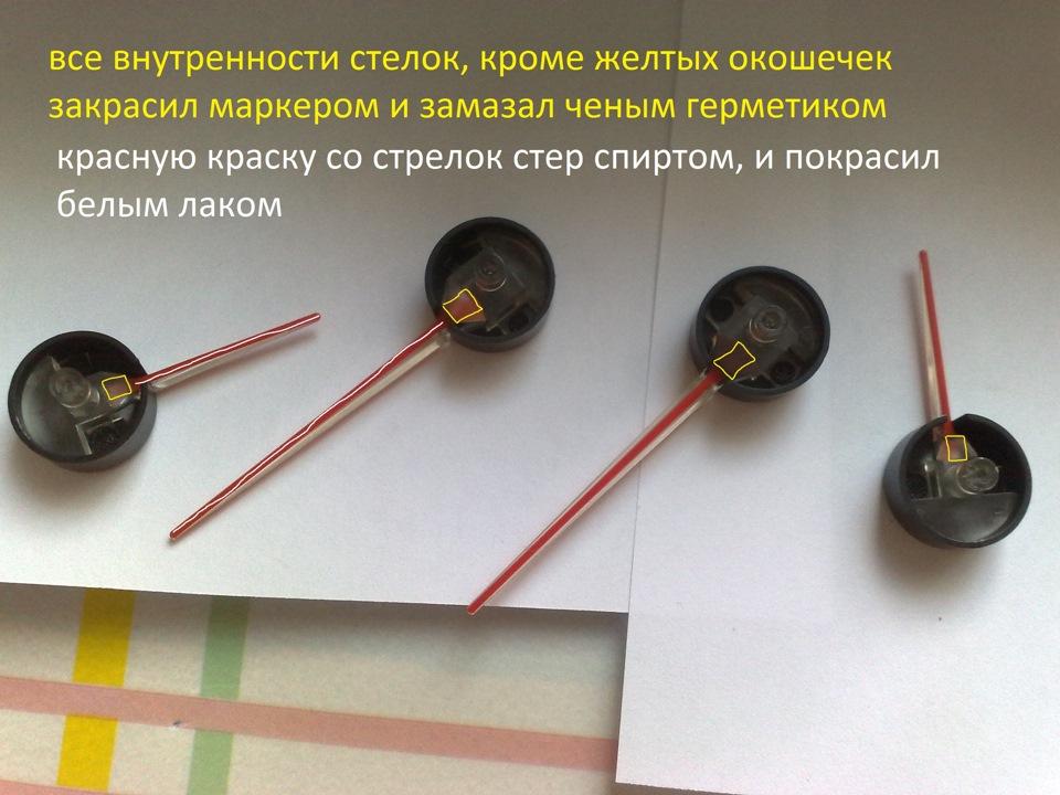 Стрелки на приборы своими руками 201