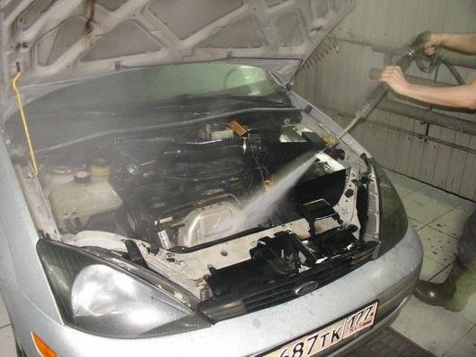 Мойка моторного отсека автомобиля своими руками