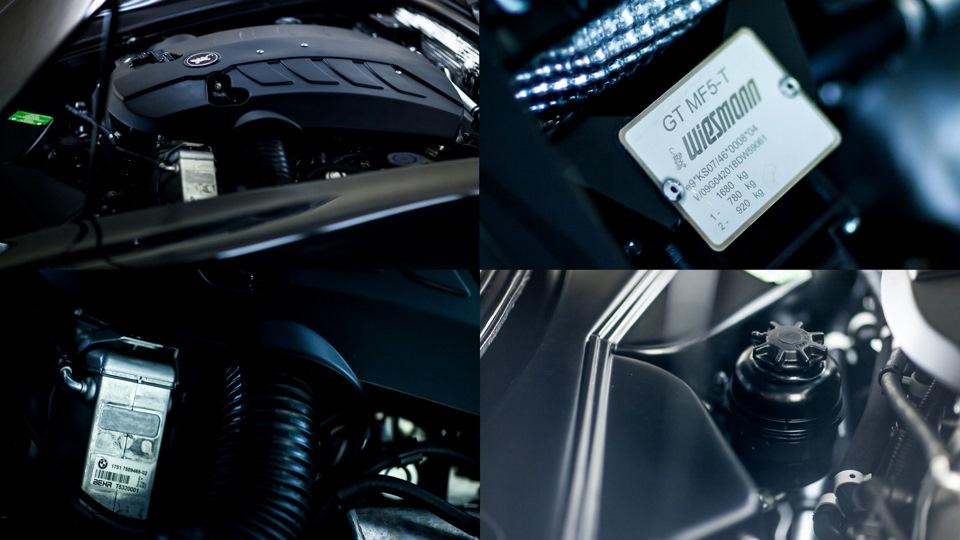 Wiesmann GT MF5, обзор которого выкладывал для Вас вчера, тоже испытал на себе все прелести очистки мотора в Царских Конюшнях : )