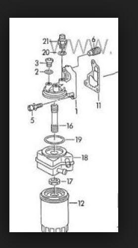 Теплообменник масляного фильтра фольксваген пассат б5 кпд роторного теплообменника