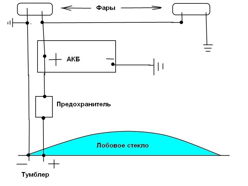 """Схема подключения """"Ангельских"""