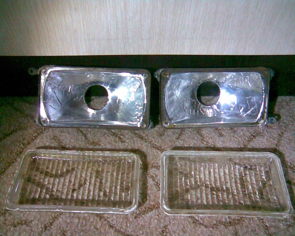 алюминиевый скотч на отражатель фары