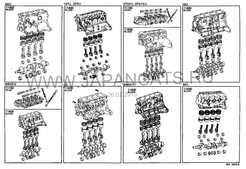 Каталожные схемы двигателя 3T-