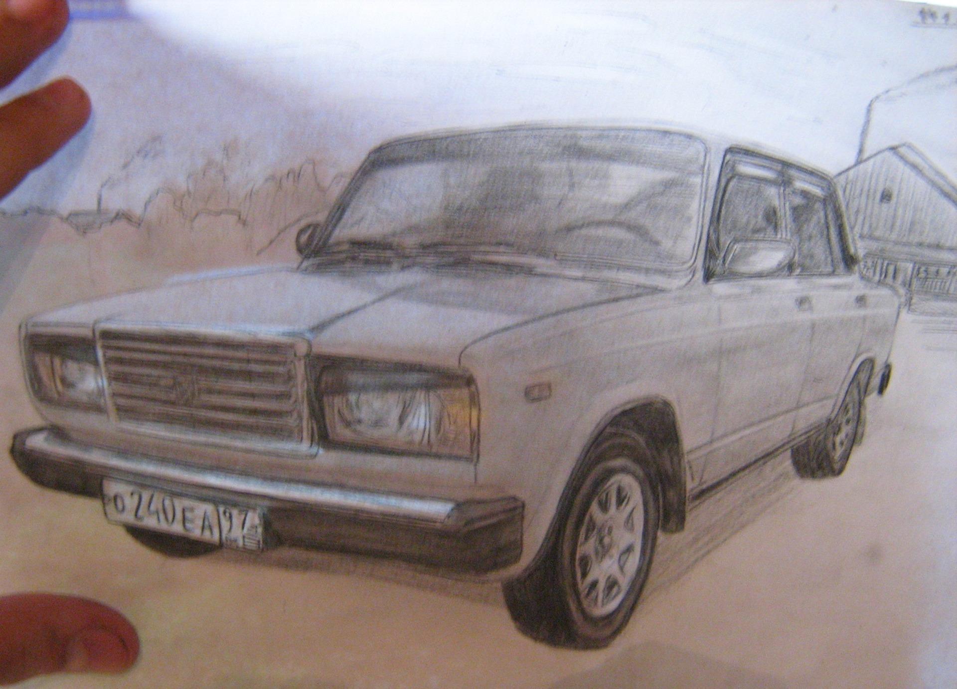 Машина семерка рисунки