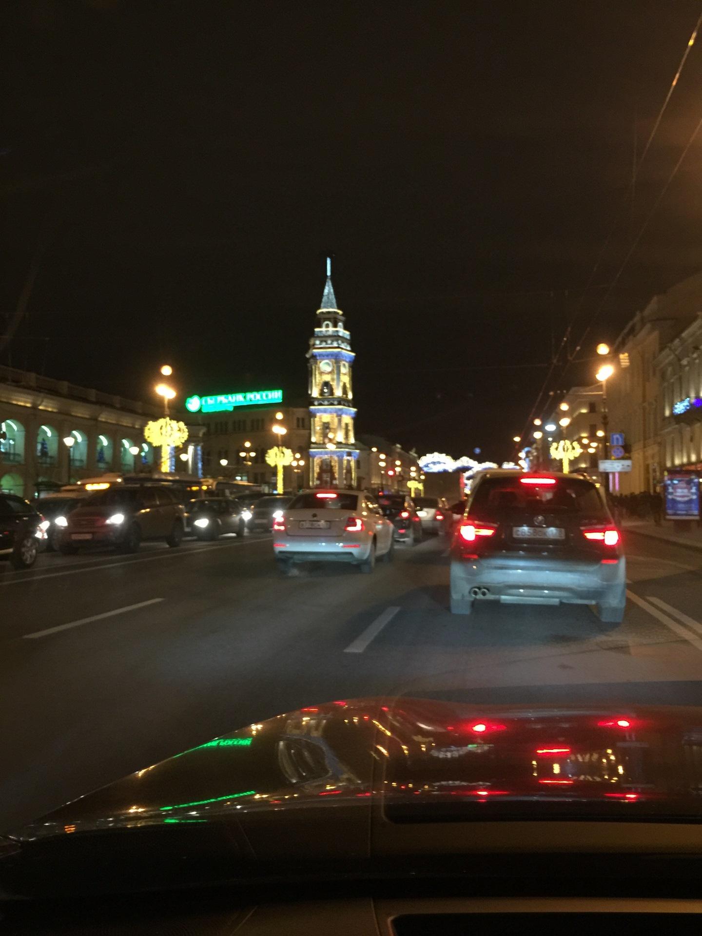 Из машины ночная дорога фото