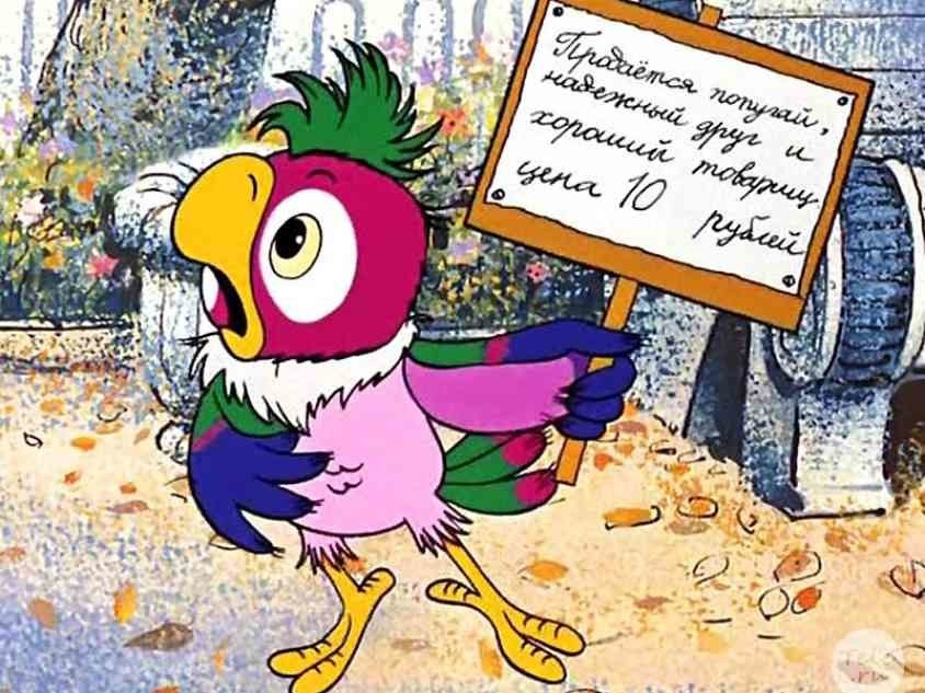 С днем рождения картинка с попугаями, тишина