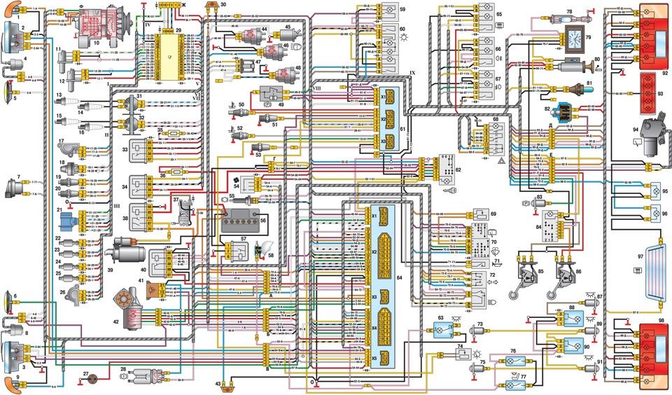 уаз 396254 электрооборудования схема