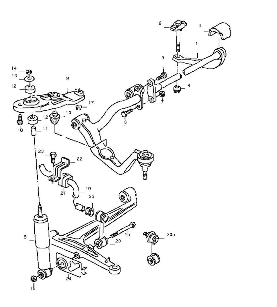 Схема подвески транспортер т4 конвейеры из нержавеющей стали