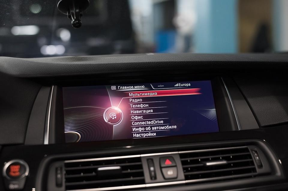 установка камеры заднего вида в BMW e38