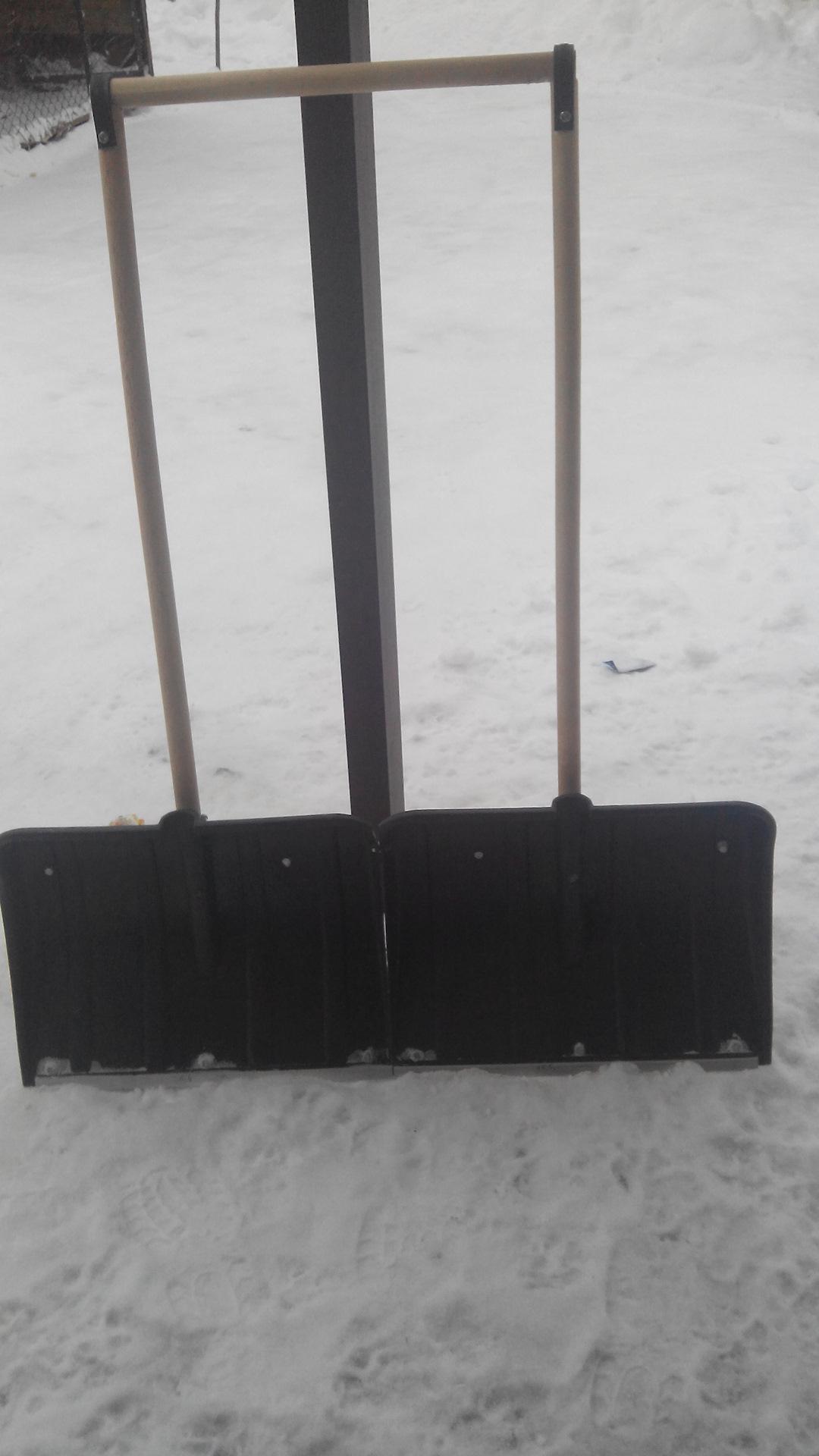 Как сделать из лопат скребок
