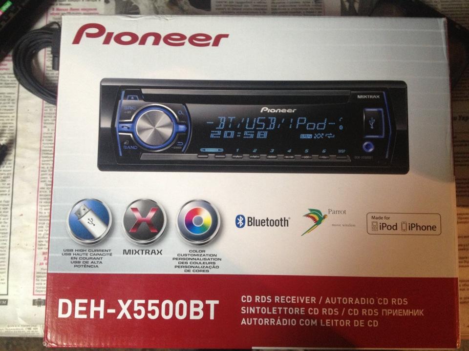 на Pioneer DEH-X5500BT,