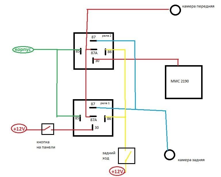 схема переключения камер