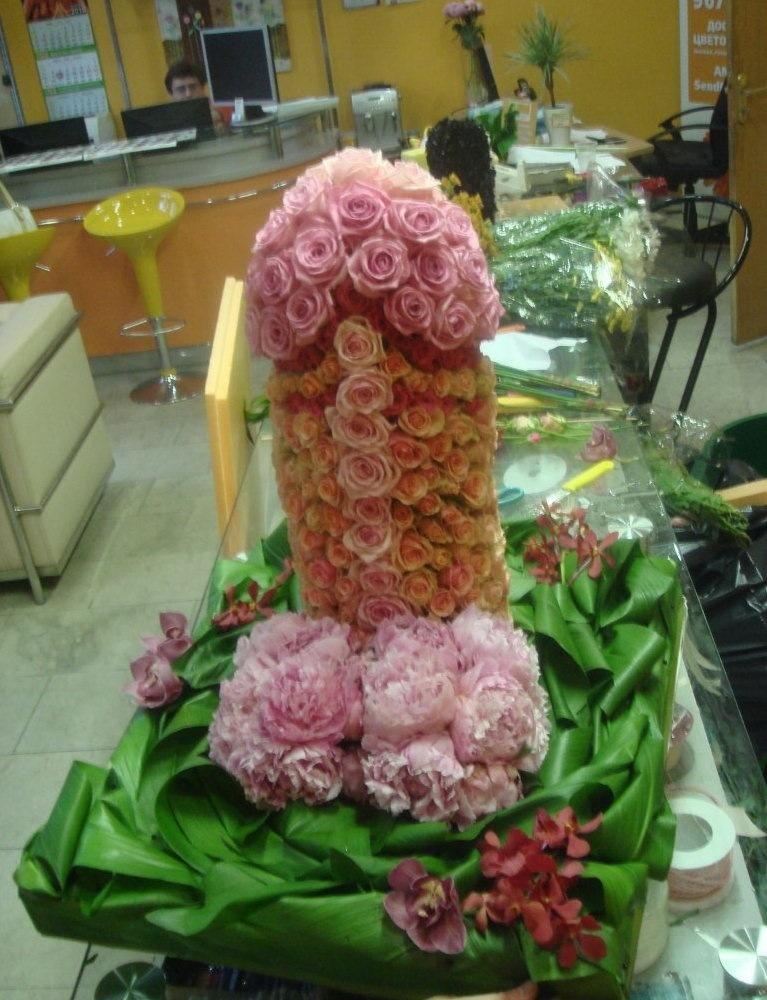 Подарок из цветов девушке фото