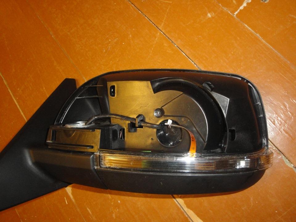 Зеркала с поворотниками на приору своими руками