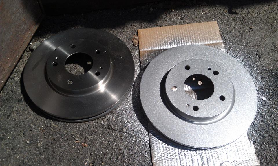 замена тормозных дисков тойота камри v40