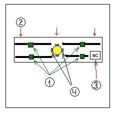 Лампа щитка приборов 24v