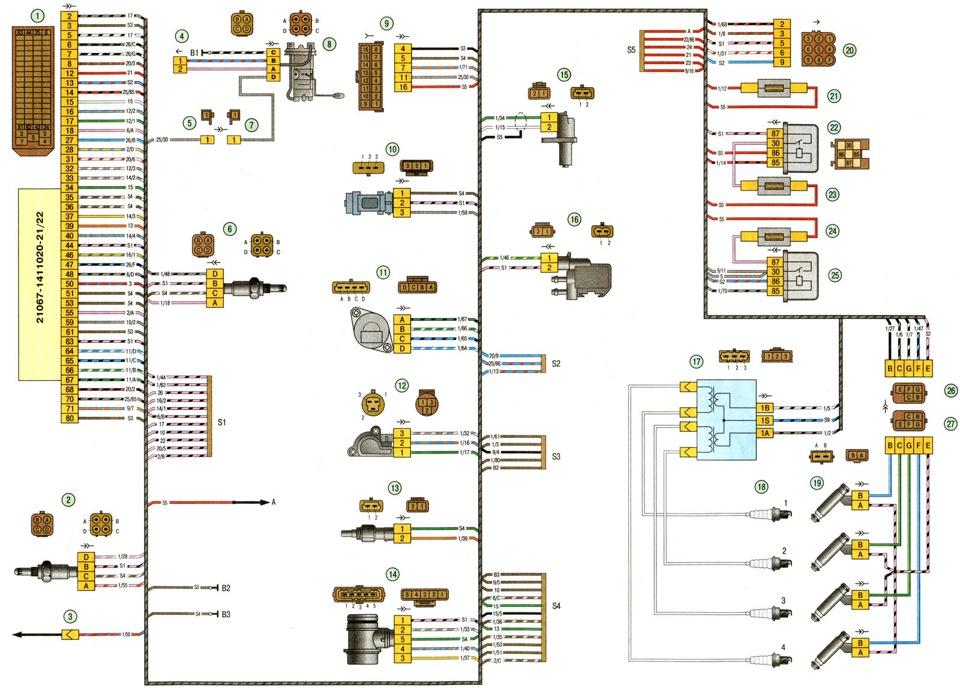 4- колодка жгута системы