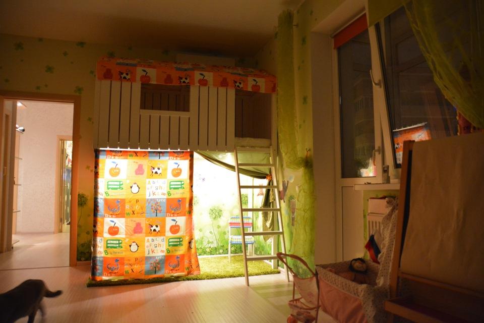 Мешок коврик для игрушек из ткани 129