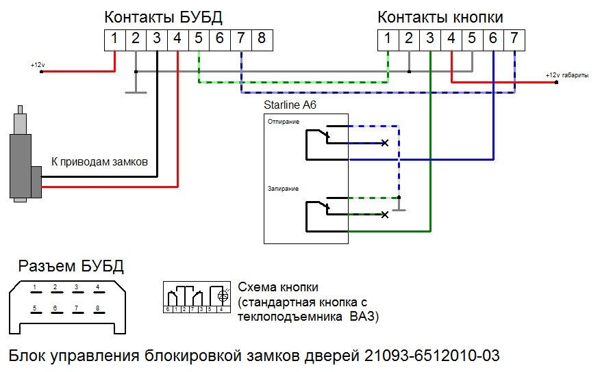 Фото №38 - схема подключения центрального замка ВАЗ 2110
