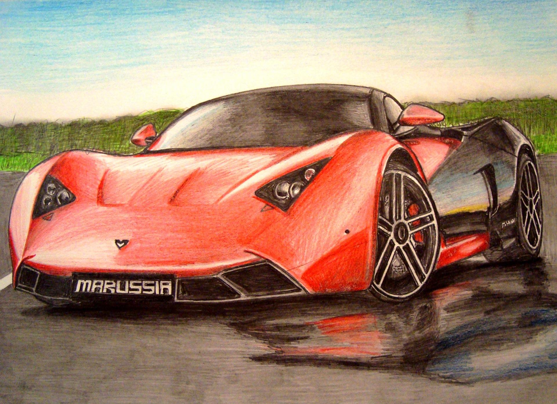 Картинки про машины нарисованные