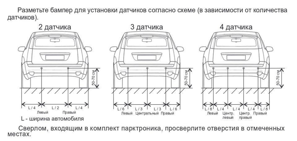 Инструкция по установке парктроника
