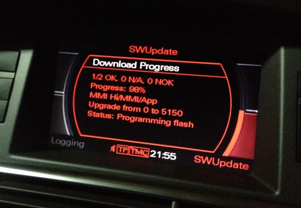 MMI 2G High Update Обновление до версии 2120 > 3460 > 4220 > 5150 EU